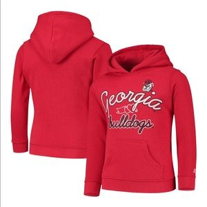 Russell Youth Georgia Bulldog Pullover Hoodie M7/8